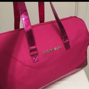 Victoria's Secret Duffel Bag hot pink NEW